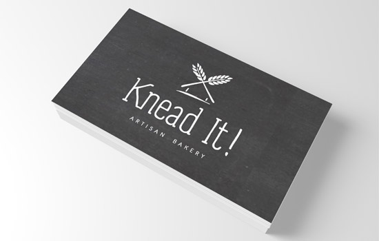 KneadIt New Logo Design on Business Card